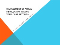 Management of Atrial Fibrillation in the Long-Term Care Setting