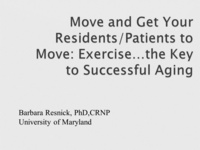 Move and Get Your Patients and Residents Moving - Exercise: The Key to Successful Aging Foundation Fun Run/Walk