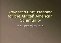 Advanced Care Planning in the Elderly African-American Woman