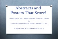 Abstracts and Poster Submissions: A Guide to the Process