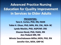Advanced Practice Nursing Education for Quality Improvement in Services to Older Adults