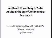 Antibiotic Prescribing in Older Adults in the Era of Antimicrobial Resistance