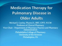 Medication Therapy for Pulmonary Disease in Older Adults