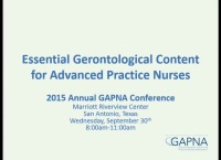 Education Workshop: Essential Gerontological Nursing for Advanced Practice Nursing