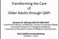 Transforming Care of Older Adults through QAPI