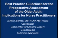 Best Practice Guidelines for the Preoperative Assessment of the Older Adult: Implications for the Nurse Practitioner