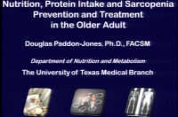 Nutrition, Protein Intake, and Sarcopenia Prevention and Treatment in the Older Adult