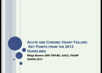 Acute and Chronic Heart Failure: Key Points from 2013 Guidelines