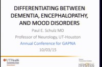 In-Depth Focus Session - Differentiating Between Dementia, Encephalopathy, and Mood Disorders