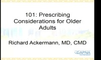 Prescribing Considerations for Older Adults