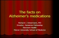 The Facts on Alzheimer's Medications