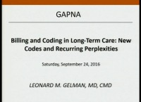 Updates in Billing for Geriatric Practice