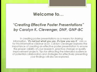 Creating Effective Poster Presentations