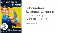Information Systems: Creating a Plan for your Admin Teams