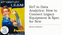 IIoT to Data Analytics: How to Connect Legacy Equipment & Spec for New