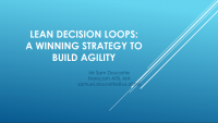 Lean Decision Loops: A Winning Strategy to Build Agility