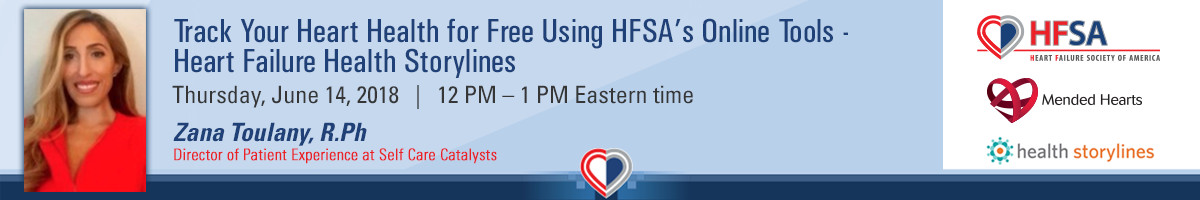 Track Your Heart Health for Free Using HFSA's Online Tools - Heart Failure Health Storylines