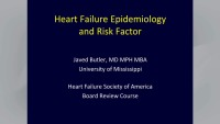 Heart Failure Epidemiology and Risk Factors & Clinical Assessment: Diagnosis and Comorbidities