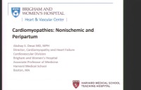 Cardiomyopathies II: Nonischemic and Per partum
