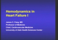 Hemodynamics in HF I