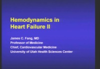Hemodynamics in HF II