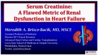Biomarkers with More Muscle: Moving Beyond Serum Creatinine to Define Cardiorenal Syndrome in HF