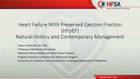 HFpEF: Natural History and Contemporary Management