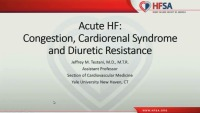 Acute HF: Congestion, Cardiorenal Syndrome and Diuretic Resistance