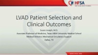 LVAD Patient Selection and Clinical Outcomes