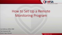 How to Setup a Remote Monitoring Program