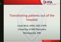 Transitioning Patients Out of the Hospital