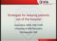 Strategies for Keeping Patients out of the Hospital