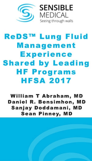 ReDS Lung Fluid Management Experience Shared by Leading HF Programs