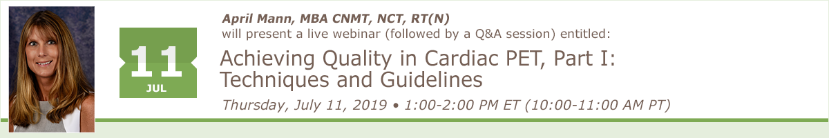 Achieving Quality in Cardiac PET, Part I: Techniques and Guidelines