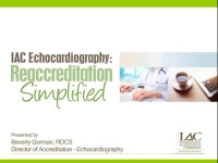 IAC Echocardiography: Reaccreditation Simplified