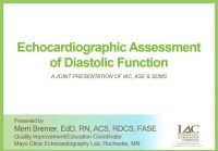 Echocardiographic Assessment of Diastolic Function