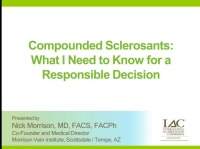 Compounded Sclerosants: What I Need to Know for a Responsible Decision