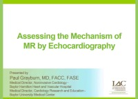 Assessing the Mechanism of MR by Echocardiography