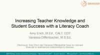 Increasing Teacher Knowledge and Student Success With a Literacy Coach