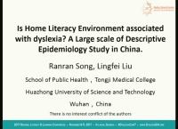 Is the Home Literacy Environment Associated With Dyslexia? A Large Scale Descriptive Epidemiology Study in China