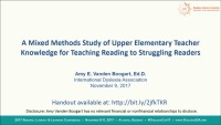 What Do Upper Elementary Teachers Know About Teaching Reading to Struggling Readers?