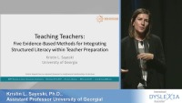 Teaching Teachers: Five Evidence-Based Methods for Integrating Structured Literacy Instruction Within Teacher Preparation