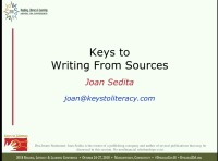 Writing From Sources: Instructional Practices and Scaffolds
