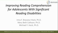 Improving Reading Comprehension for Adolescents With Significant Reading Disabilities