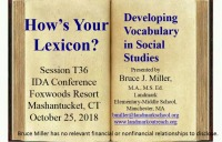 How's Your Lexicon? Developing Vocabulary in Social Studies