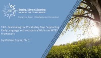 Narrowing the Vocabulary Gap: Supporting Early Language and Vocabulary Within an MTSS Framework