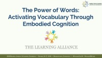 The Power of Words: Activating Vocabulary Through Embodied Cognition