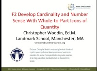 Develop Cardinality and Number Sense With Whole-to-Part Icons of Quantity