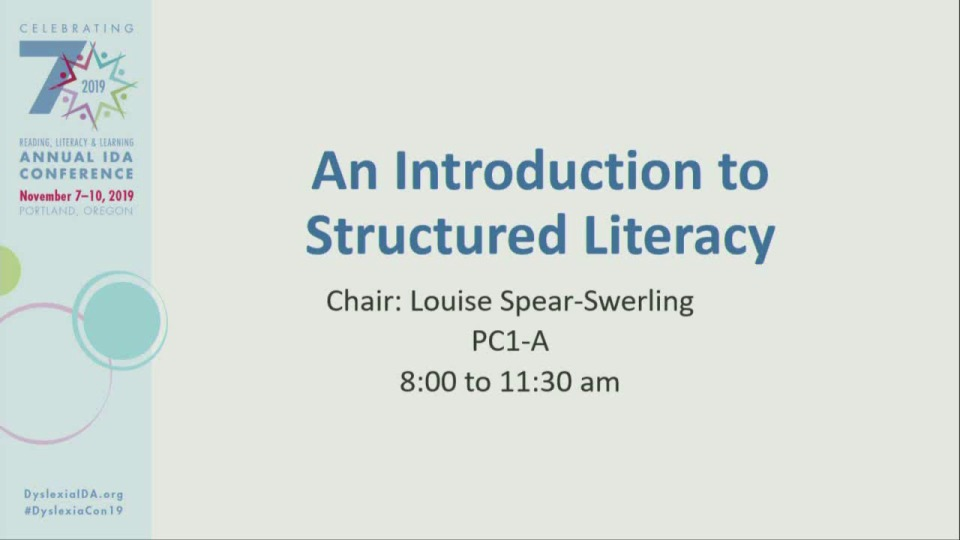 An Introduction to Structured Literacy