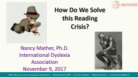 How Do We Solve This Reading Crisis?